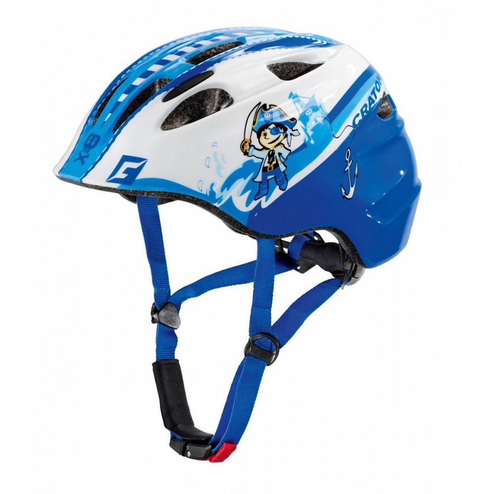 Шлем детский Cratoni Akino Pirat Blue-White